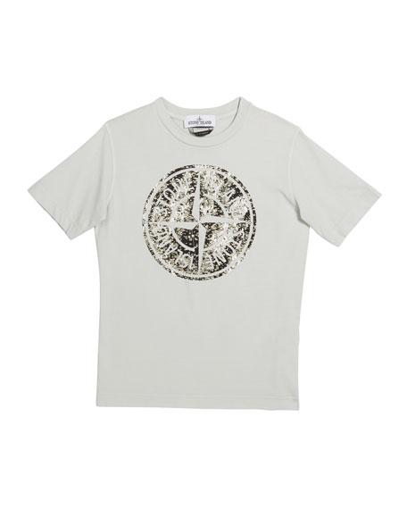 Stone Island Boy's Space Print Logo Tee, Size 8-10