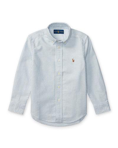 Cotton Oxford Stripe Sport Shirt  Size 2-3
