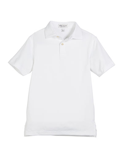 Solid Stretch Jersey Polo Shirt  Size XS-XL