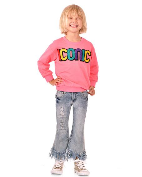 Hannah Banana Girl's Iconic Sweatshirt, Size 7-16