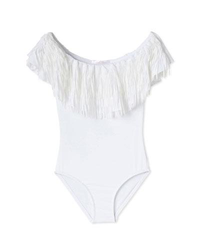 Fringe One-Piece Swimsuit, Toddler Girl