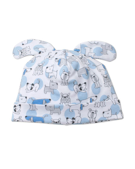 Kissy Kissy Polka Dot Pups Pima Baby Hat