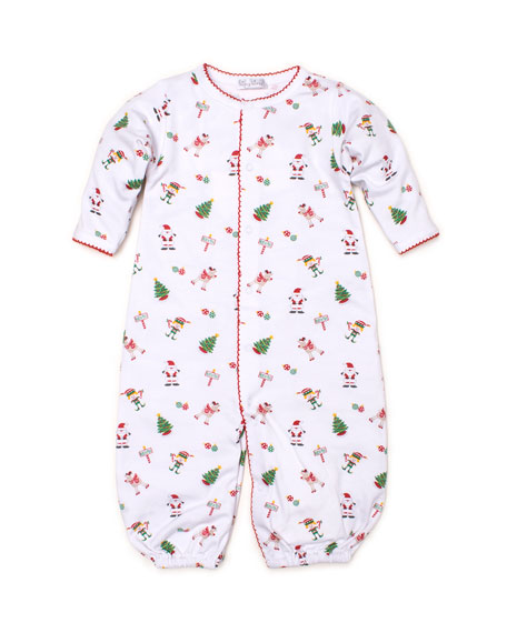 Kissy Kissy Holidaze Pima Convertible Gown, Size Newborn-S