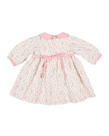 Florence Eiseman Floral Print Corduroy Dress, Size 6-24 Months