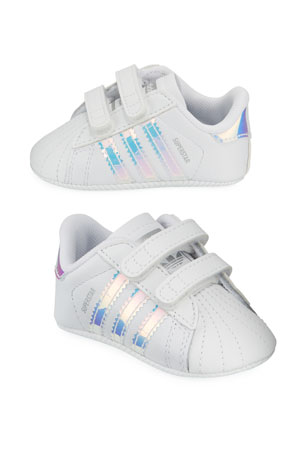 Adidas Superstar Iridescent Trim Crib Sneakers, Baby