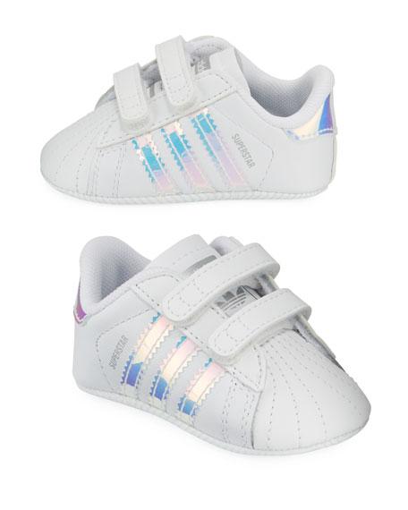 Adidas Superstar Iridescent Trim Crib Sneakers, Baby