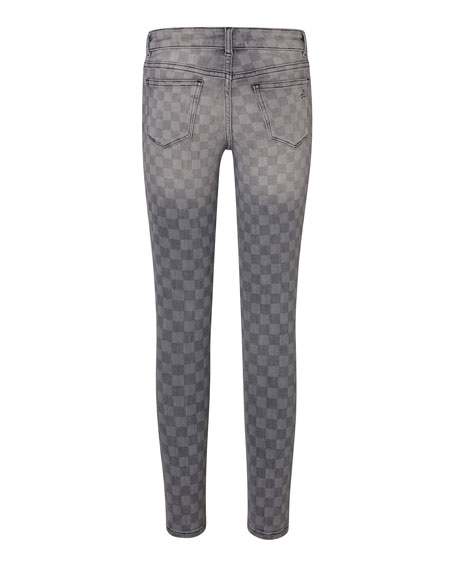 DL 1961 Girls' Chloe Checkmate Printed Skinny Jeans, Size Youth 7-16