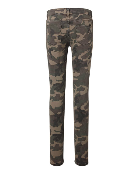 DL 1961 Girls' Chloe Camper Printed Skinny Jeans, Size Youth 7-16