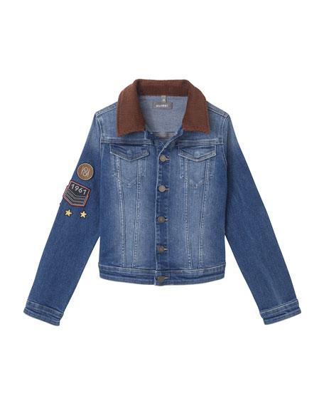 DL 1961 Manning Denim Jacket w/ Patches, Size S-L