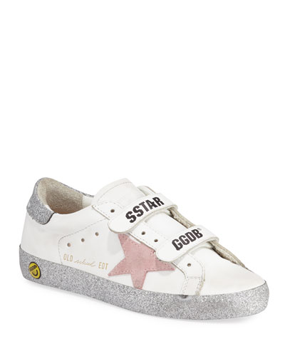 Girl's Old School Glitter Sole Low-Top Sneakers  Baby/Toddler