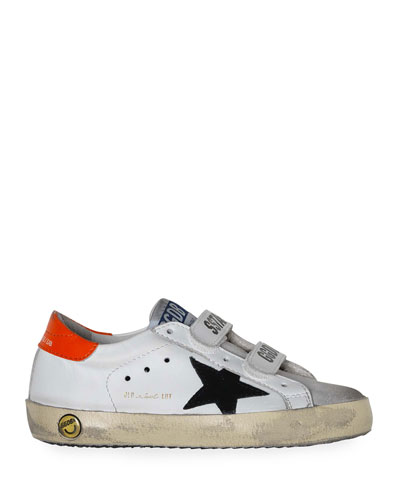 Boy's Old School Leather Sneakers  Baby/Toddler