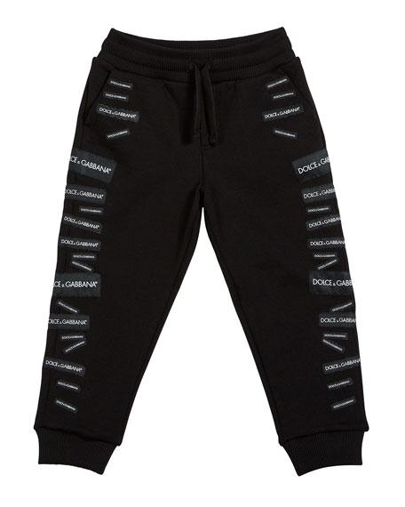 Dolce & Gabbana Logo Patch Sweatpants, Size 4-6