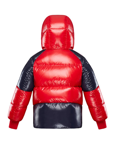Image 3 of 3: Moncler Boy's Sigean Colorblock Puffer Coat, Size 4-6