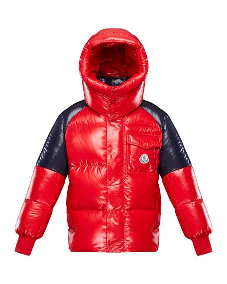 Moncler BOY'S SIGEAN COLORBLOCK PUFFER COAT