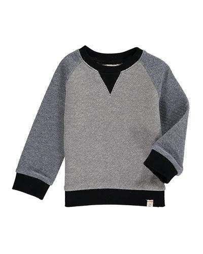 Two-Tone Knit Sweatshirt w/ Children's Book, Size 6-24 Months