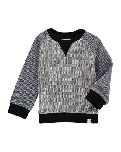 Two-Tone Knit Sweatshirt w/ Children's Book, Size 2T-10