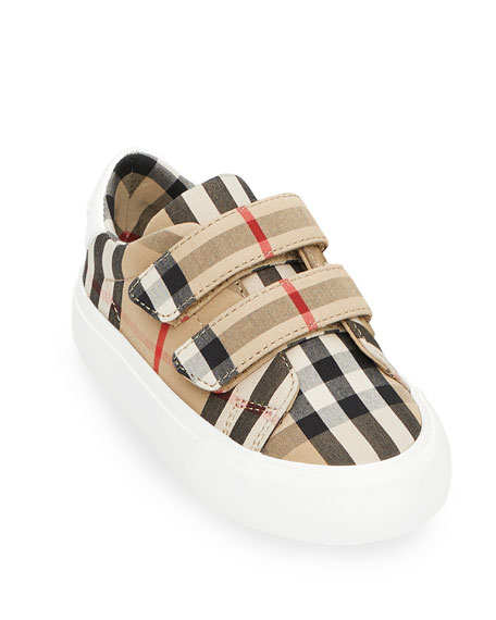 Image 3 of 4: Markham Check Grip-Strap Sneaker, Baby/Toddler