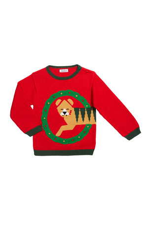 Zubels Boy's Holiday Tiger Sweater, Size 12M-7