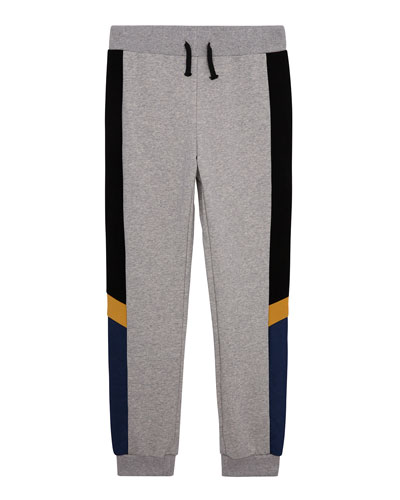 Boy's Colorblock Pull-On Jogger Pants  Size S-XL