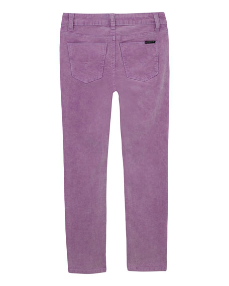Hudson Girl's Acid Wash Corduroy Skinny Ankle Jeans, Size 7-16