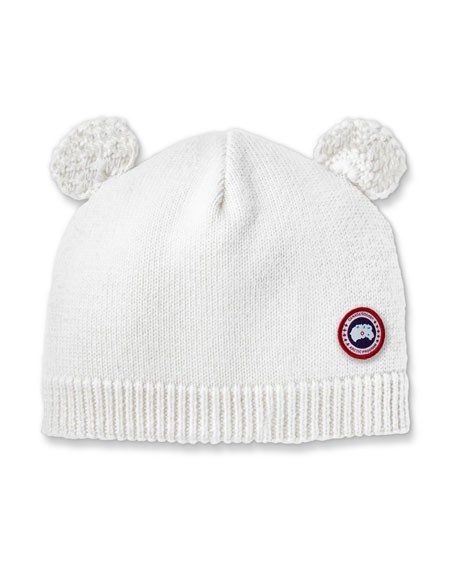 Image 1 of 2: Canada Goose Baby's Knit Hat w/ Crochet Animal Ears