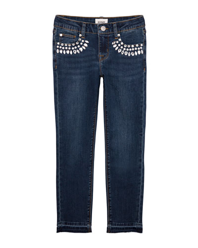 Girls' 5-Pocket Ankle Skinny w/ Embellishments  Size 7-16