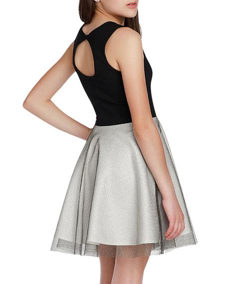 Sally Miller Girl's The Victoria Super Ponti Dress w/ Metallic Skirt, Size S-XL