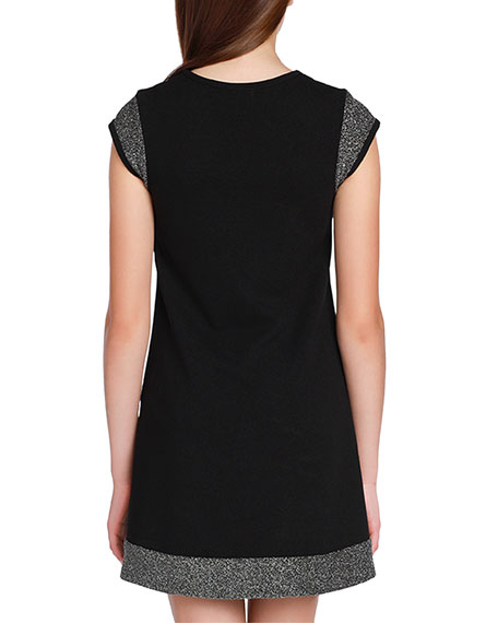 Image 2 of 3: Sally Miller Girl's The Demi Lurex Trim Dress, Size S-XL