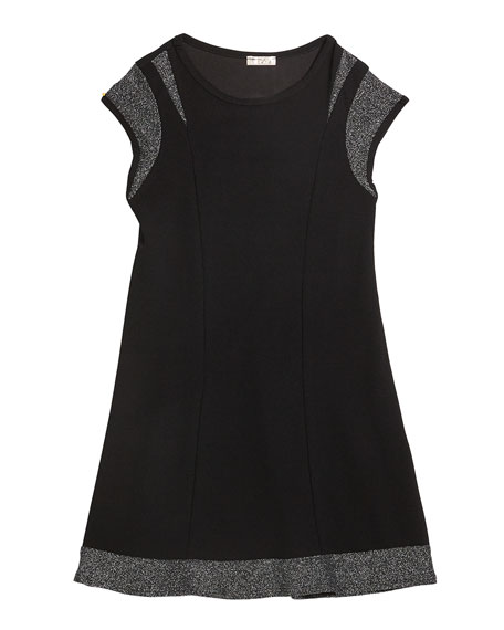 Image 3 of 3: Sally Miller Girl's The Demi Lurex Trim Dress, Size S-XL