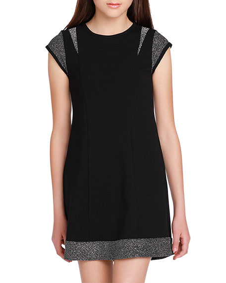 Image 1 of 3: Sally Miller Girl's The Demi Lurex Trim Dress, Size S-XL