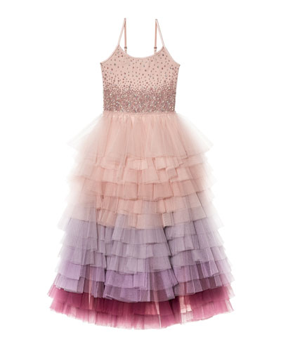 Girl's Keepsake Long Tutu Dress  Size 4-11