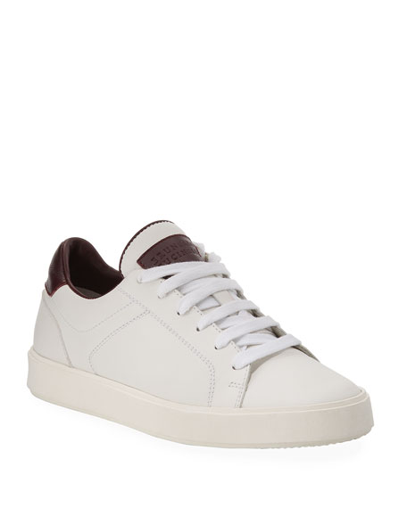 Brunello Cucinelli Boy's Leather Low-Top Sneakers, Kids