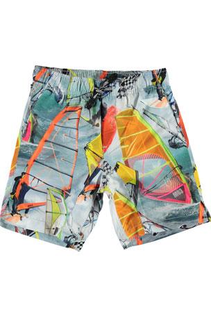 Molo Boy's Nario Wind Surfer Swim Shorts, Size 3T-12