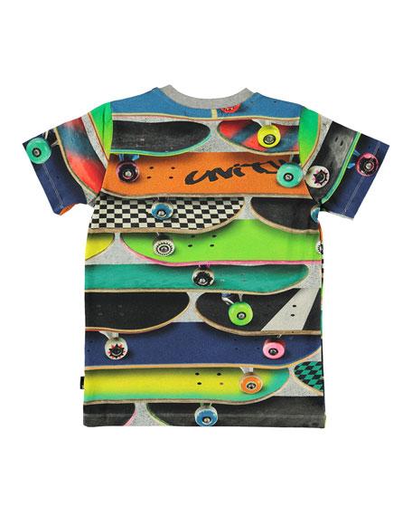 Molo Boy's Ralphie Allover Cars Print Tee, Size 4-12