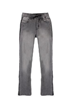 Molo Boy's Augustino Drawstring Denim Pants, Size 4-12