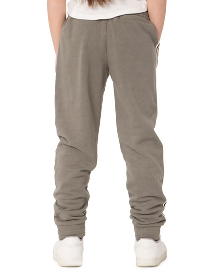 Lazypants Kid's Lucas French Terry Sweatpants w/ Side Taping, Size 6-14