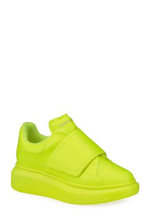 Alexander McQueen Neon Platform Fashion Sneakers, Kids