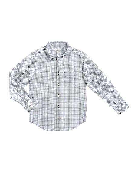 Peter Millar Boy's Check Performance Shirt, Size XXS-XL