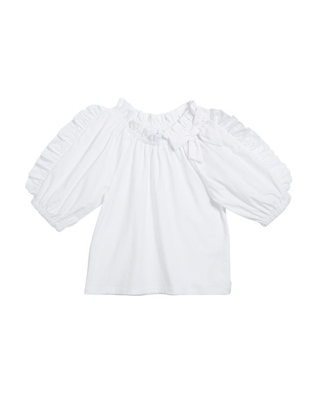 Habitual Girl's Ruffle-Sleeve Fit-And-Flare Top, Size 7-12
