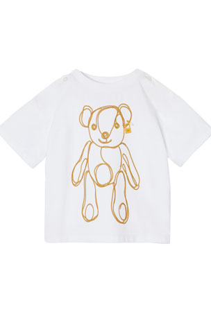 Burberry Girl's Chain Bear Graphic Tee, Size 6M-2