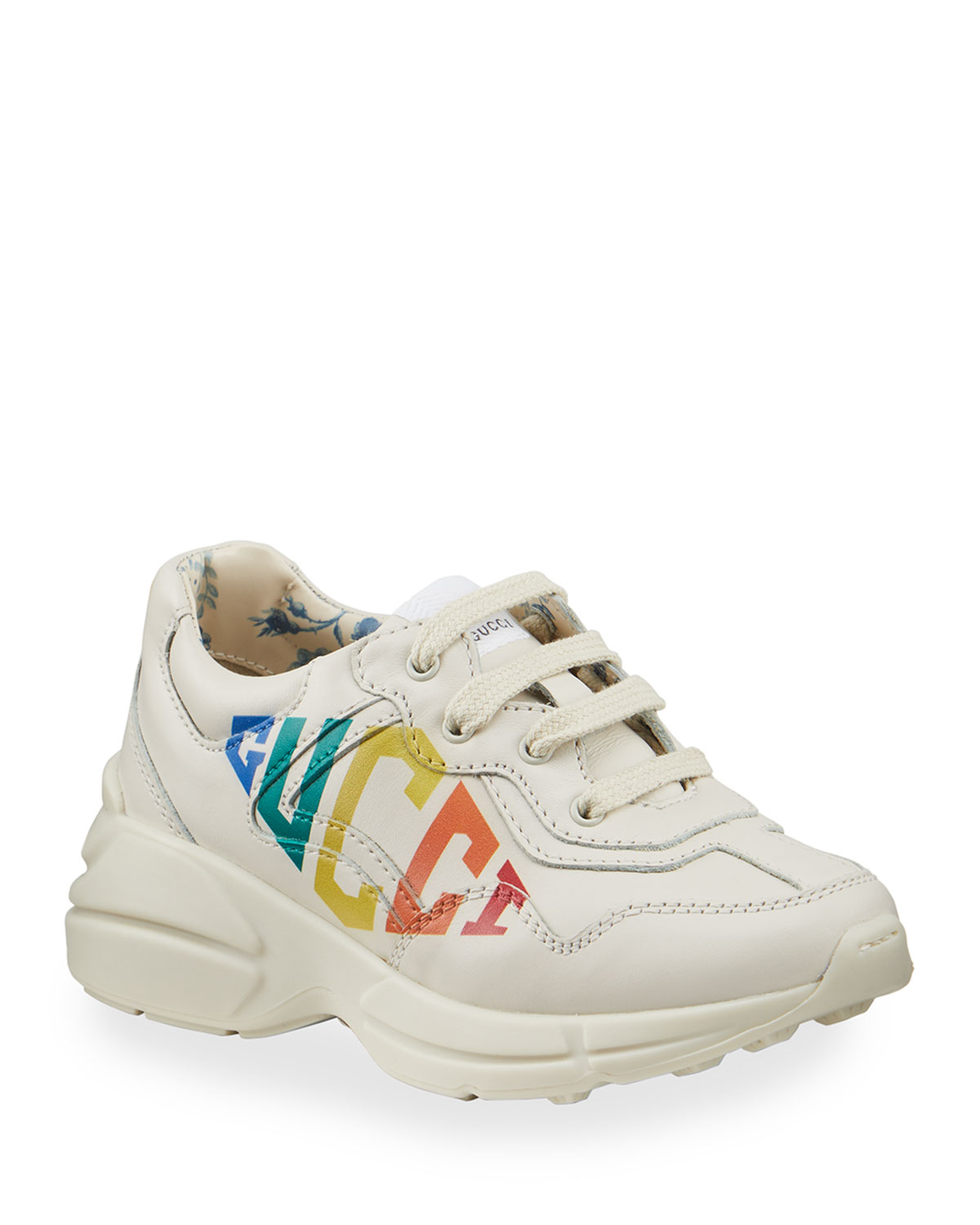 Chunky Leather Sneakers, Baby/Toddler