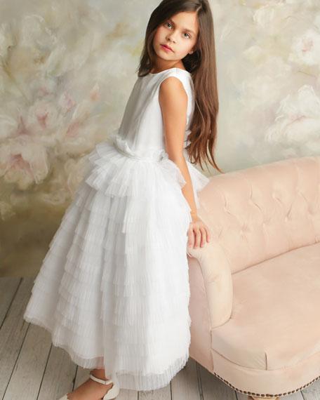 White Label by Zoe Girl's Chloe Layered Ruffle Dress, Size 6-10