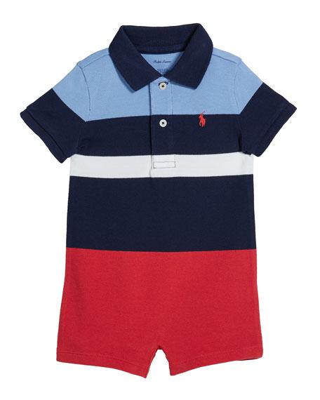 Ralph Lauren Childrenswear Lifesaver Colorblock Polo Shortall, Size 3-18 Months