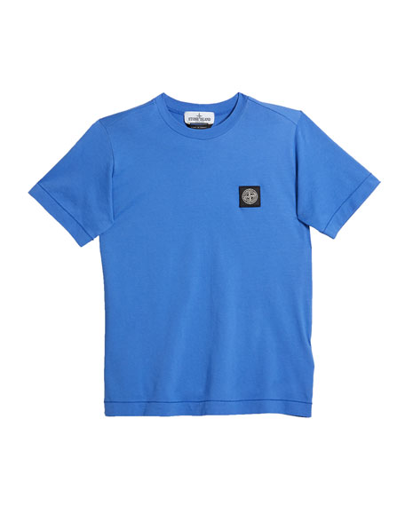 Stone Island Boy's Logo Patch Short-Sleeve Tee, Size 6-8