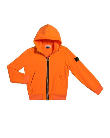 Stone Island Boy's Tech Hooded Zip-Up Jacket, Size 6-8