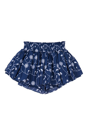 Velveteen Eloise Gathered Skort with Smocked Waist, Size 4-6