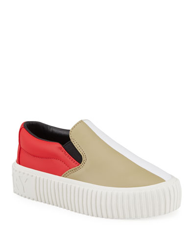 Erwin Leather Colorblock Slip-On Sneakers  Toddler/Kids