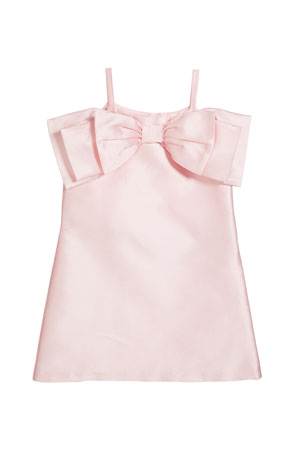 Charabia Girl's Big Bow Front Dress, Size 6-12