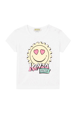 Kenzo Girl's Multi-Iconic Smiley Face Graphic Tee, Size 6-18 Months