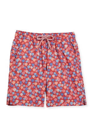 Peter Millar Boy's Sedona Air Swim Trunks, Size XXS-XL